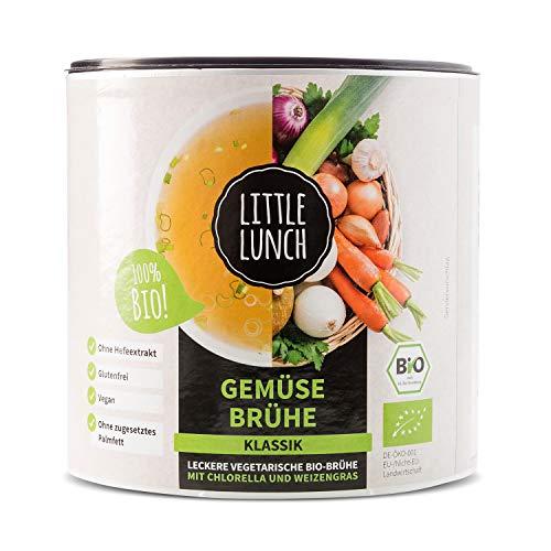 "Little Lunch Bio Brühe | \""Gemüsebrühe Klassik\"" | Ohne Geschmacksverstärker | Zuckerfrei | Hefefrei | 420g | Vegan"