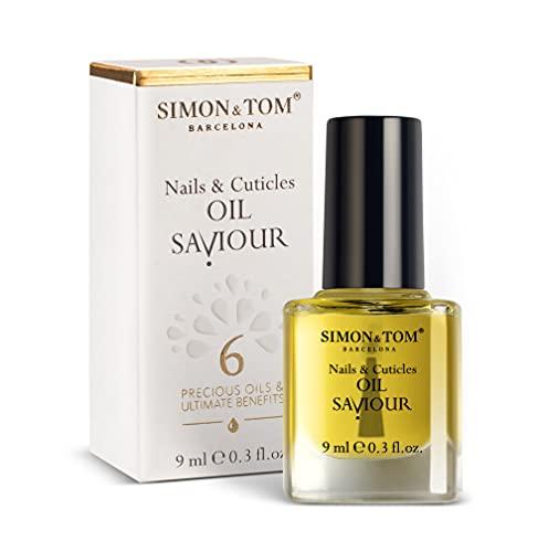 Simon & Tom, Nagel- und Nagelhaut-Reparaturöl, mit 6 Pflanzenölen, pflanzlich, 9 ml.