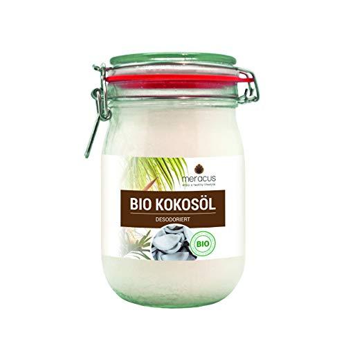 meracus Bio Kokosöl, Geschmacksneutral (desodoriert) im Bügelglas, 1er Pack (1 x 1 l)