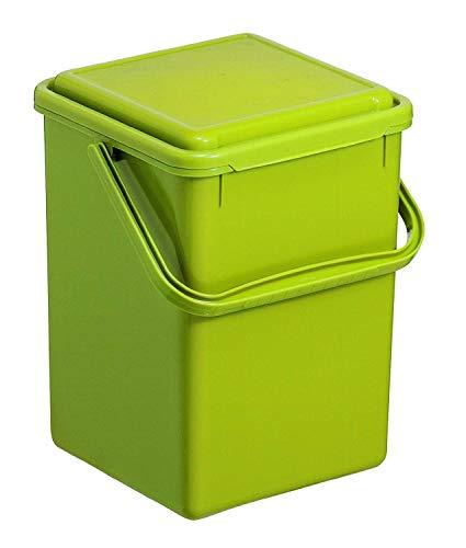 Rotho Bio Komposteimer für die Küche, Kunststoff (PP), grün, 9 Liter (230x225x280mm)