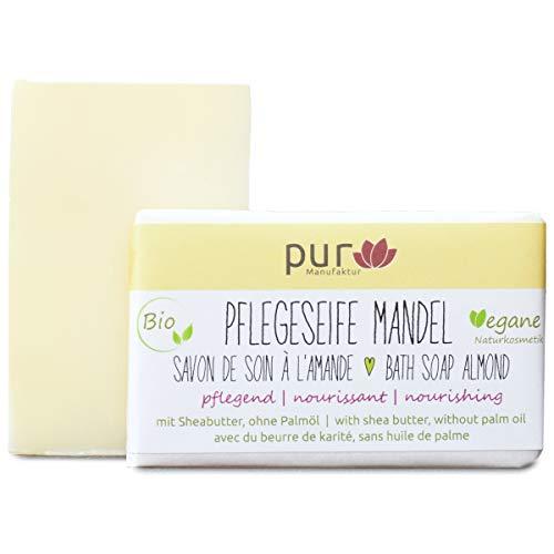 Manufaktur Pur Bio Mandelseife Mandelöl-Naturseife mit Sheabutter Mandel 100 g
