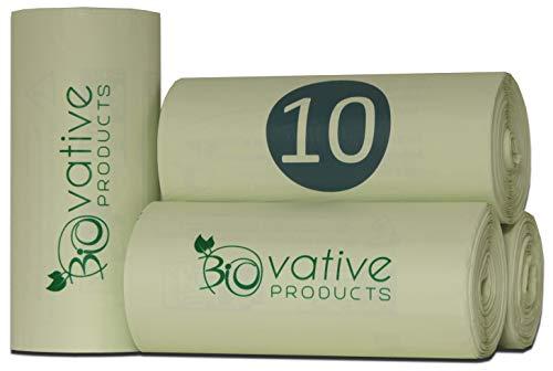 Kompostierbare Biomüllbeutel 10L, 20L, 30L mit & ohne Henkel - 100{6823974484f05c51a76b8d59796949fa9808af14dc0835b0dae63c2627635283} kompostierbar & biologisch abbaubar - reissfeste Bio-Beutel für saubere Entsorgung mit & ohne praktischen Tragegriff