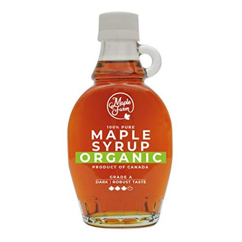 Kanadischer BIO Ahornsirup Grad A (Dark, Robust taste) - 189ml (250g) - Organic Maple Syrup