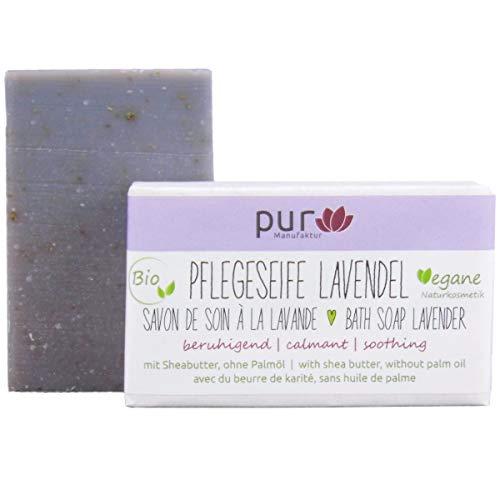 Manufaktur Pur Bio Sheabutter-Naturseife Lavendelseife 100 g