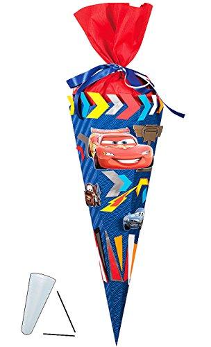 Unbekannt Bastelset 3-D Schultüte - Cars Mc Queen - 85 cm 6 - eckig - Zuckertüte zum selbst Basteln - für Jungen - Auto Fahrzeuge Finn Hock Francesco Mc Missle - Auto