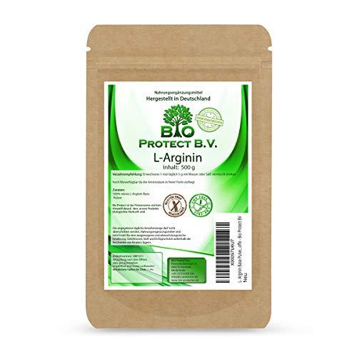 L- Arginin Base Pulver 500 Gramm - 100{9e9069e4c5f49c3f24e461b0c483e78055761037a0812282af260fdbf20ab2e0} ohne Zusatzstoffe - Bio Protect BV
