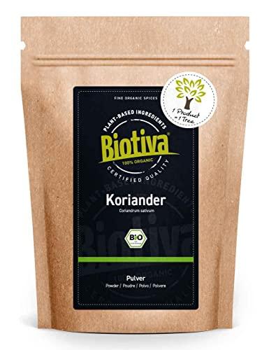 Koriander gemahlen (250g, Bio) - Hochwertigste Bio-Qualität aus dem Mittelmeerraum - 100{410c26b9cfec4db96666e42767b8c9ebf012942192010c04884f2e2fabe61a43} Bio-zertifiziert in Deutschland (DE-ÖKO-005) - Perfekt zu indischen und asiatischen Gerichten