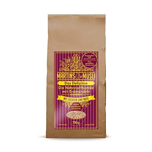 Bio Müsli Porridge Frühstücksbrei. Das Deliziöse 750g: ohne Zucker-Zusatz & Weizen. Ein gesundes Frühstück: Vegan basisch verdauungsfördernd. Basismüsli mit Superfood Erdmandeln (Chufa) & Chia.