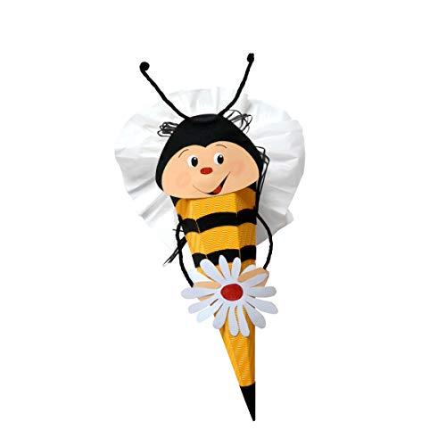 Schultüte Bastelset Biene - Zuckertüte - aus 3D Wellpappe, 68cm hoch