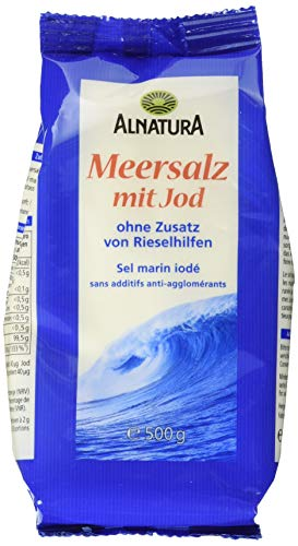 Alnatura Bio Meersalz, jodiert, 6er Pack (6 x 500 g)