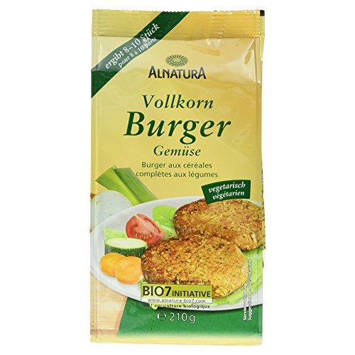 Alnatura Bio Vollkorn-Burger Gemüse, 5er Pack (5 x 210 g)
