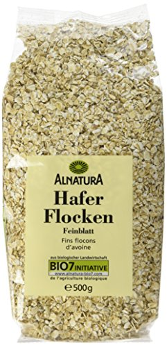 Alnatura Bio Haferflocken Feinblatt, vegan, 6er Pack (6 x 500 g)