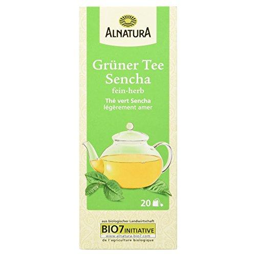 Alnatura Bio Grüntee Sencha, 20 Beutel, 6er Pack (6 x 30 g)