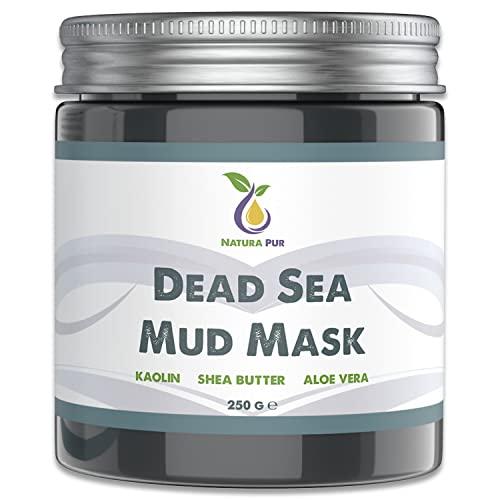 Natura Pur Totes Meer Schlamm Gesichtsmaske 250g, vegan - Anti Pickel, Mitesser Maske und gegen Akne - Anti-Aging Pflege für trockene und unreine Haut - Schlamm-Maske für Gesicht und Körper