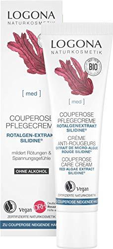 LOGONA Naturkosmetik Couperose Creme Tag & Nacht, Stärkt die Gefäßwände & erhöht die Spannkraft, Mit dem exklusiven Wirkstoff SILIDINE®, Bei Rötungen, Beruhigende Gesichtspflege, Vegan, 30ml