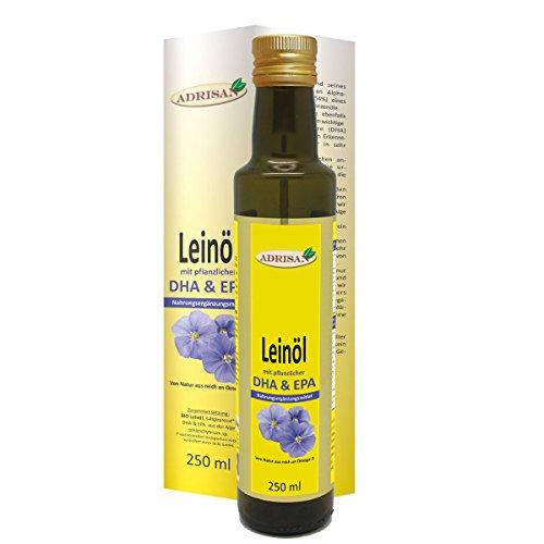 Adrisan Leinöl bio* mit DHA & EPA 250ml - Nahrungsergänzung