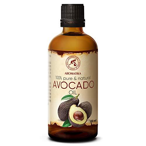 Avocadoöl 100ml - Kaltgepresst & Raffiniert - 100{4b249000e11ab35b9271e63912177470d3752aa6a784cf7d0947627292d9a70a} Reines - Glasflasche - Avocado Öl - Intensive Pflege für Gesicht - Körper - Haare - Massage - Körperpflege Öl Avocado