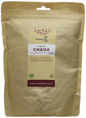 Natures Root BIO Chaga Pilz Pulver 250g - Als Tee Geeignet | Rohkostqualität | Vegan | Top Qualität | Vitalpilz
