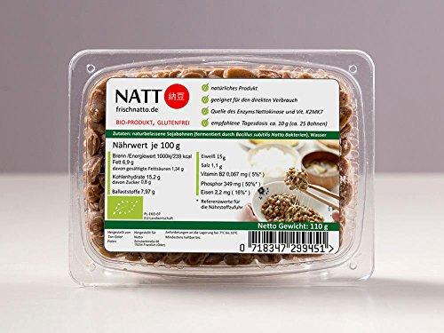 Natto BIO - Vitamin K2mk7, Nattokinase, Soja-Isoflavone, probiotische Bakerien