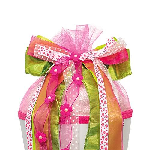 ROTH Schultütenschleife ´Fairy´, rosa grün weiß 679253
