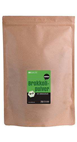 Wohltuer Bio Brokkoli Pulver Feldfrisch und schonend vermahlen aus Deutschland, 250 g