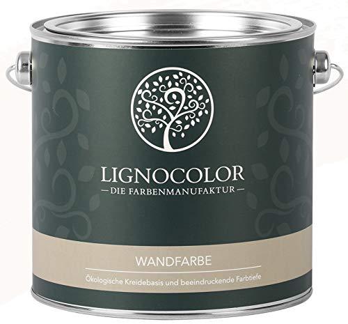 Lignocolor Wandfarbe Innenfarbe Deckenfarbe Kreidefarbe edelmatt 2,5 L (Altweiss)