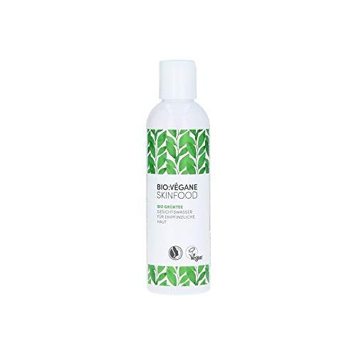 BIO:VÉGANE SKINFOOD Bio Grüntee - Pflegendes Gesichtswasser für empfindliche Haut, vegan, NATRUE-zertifiziert, Naturkosmetik für sensible Haut, 1er Pack (1 x 200 ml)