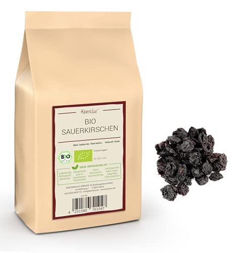 1kg BIO Sauerkirschen getrocknet und entsteint - leckere Trockenfrüchte ungeschwefelt und ungezuckert