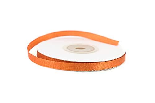 Creativery 25m Rolle Satinband 6mm (Kupfer 785) // Schleifenband Deko Band Dekoband Geschenkband Dekoration Hochzeit Taufe