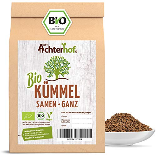 Bio Kümmel ganz echt (1kg) Kümmelsamen Kümmeltee vom-Achterhof Kümmelsaat Caraway Whole Organic