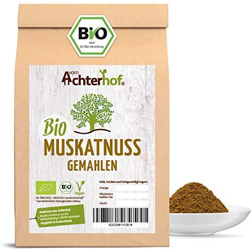 BIO Muskatnüsse gemahlen (100g) Premium Qualität vom-Achterhof Muskat Muskatnuss Pulver