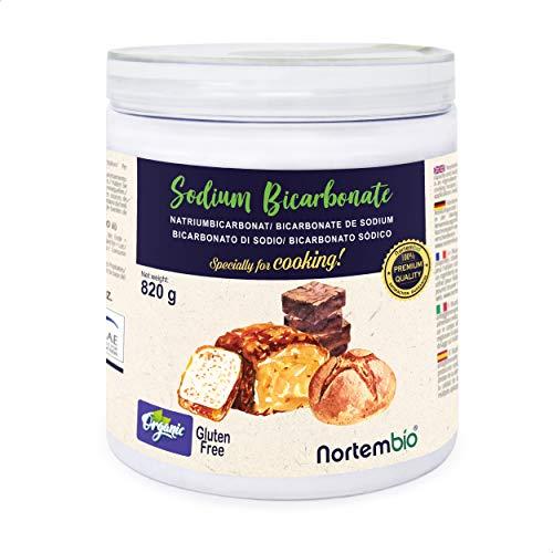 NortemBio Ökologischer Natron Pulver 820 g. Natriumbicarbonat, Backpulver, Backsoda. Premium - Lebensmittelqualität. Speziell zum Kochen. Entwickelt in DE.