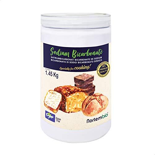 NortemBio Ökologischer Natron Pulver 1,45 Kg. Natriumbicarbonat, Backpulver, Backsoda. Premium - Lebensmittelqualität. Speziell zum Kochen. Entwickelt in DE.