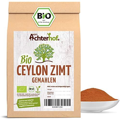 Bio Ceylon Zimt gemahlen (250g) mit wenig Cumarin in premium Qualität | 100{411e6f8dad34fd039a66f526e199f962c127c54dd7a3a83584509f102cc3c910} ECHTES Bio Ceylon Zimt Pulver