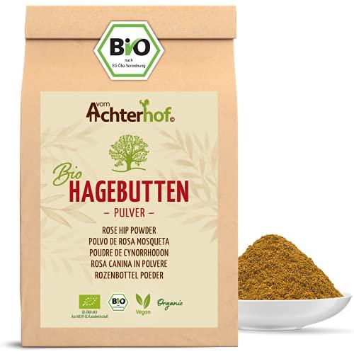 Bio Hagebuttenpulver (1kg) | ganze Hagebutte gemahlen | 100{63c1074fc729b728635dad7bd84b22ff71f4c3fc0232bde14b9abd2a45ce8692} ECHTES Bio Hagebutten Pulver in Rohkostqualität