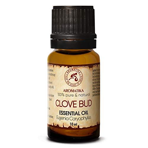 Nelkenöl 10ml - Eugenia Caryophyllus - Indonesia - 100{3e574ac345b693c6a0abf44a4bb6e2625edf0938be301dd33a6dc3f0cf304a5e} Reine und Natürliche Clove Bud Oil - für Aromatherapie - Aroma Diffuser - Duftlampe - Raumduft