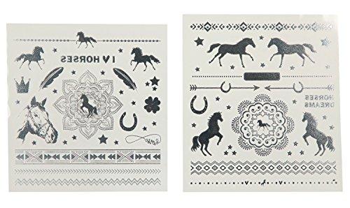 Depesche 6387 - Tattoos Metallic Look Horses Dreams, sortiert
