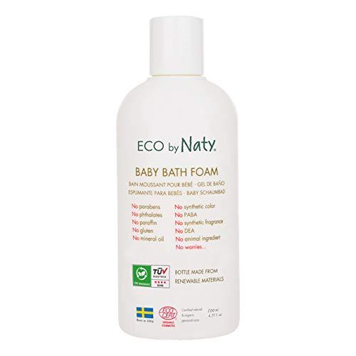 Naty Ökologischer, Feuchtigkeitsspendener Baby Badeschaum, Ohne Duftstoffe, Bio, Naturkosmetik, 200 Ml