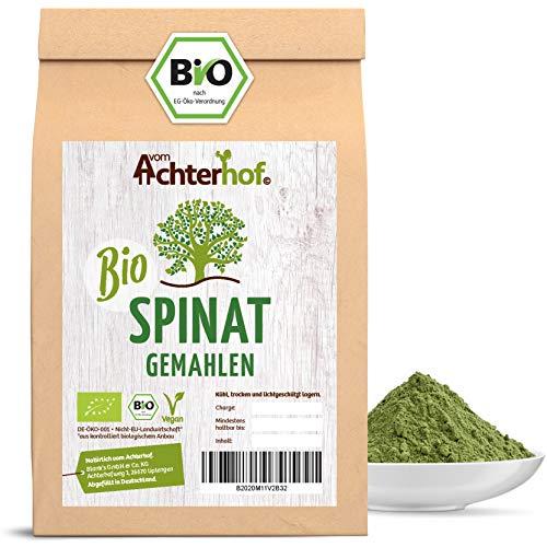 Spinatpulver BIO (500g) | Rohkostqualität | Ideal für einen Smoothie oder zum färben für Nudeln | Spinat Pulver vom Achterhof
