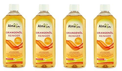 AlmaWin Orangenöl-Reiniger, der Alleskönner, 4 x 0,5l