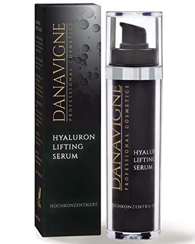 DANAVIGNE Reines Hyaluron Serum hochkonzentriert - Anti Aging Hyaluronsäure Gel - Lifting Serum Augen, Gesicht, Hals & Dekolleté - 1er Pack (1 x 50 ml)