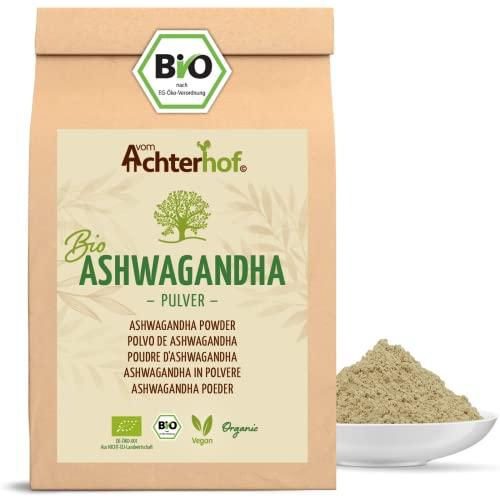 Ashwagandha Pulver BIO (500g) | 100{a0c1b1f104b14dd6dde45a905840da7ad5a9966e09b1077b95f51ce3498e0c5e} ECHTE Ashwagandhawurzel gemahlen aus Indien | indischer Ginseng | Ayurveda