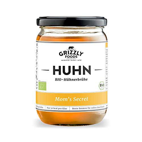 Biologische Hühnerbrühe aus Deutschland (6x500ml) • 24 Stunden gekocht • Wertvolle Nährwerte • Bone Broth • Knochenbrühe • Kraftbrühe • Mom\'s Secret