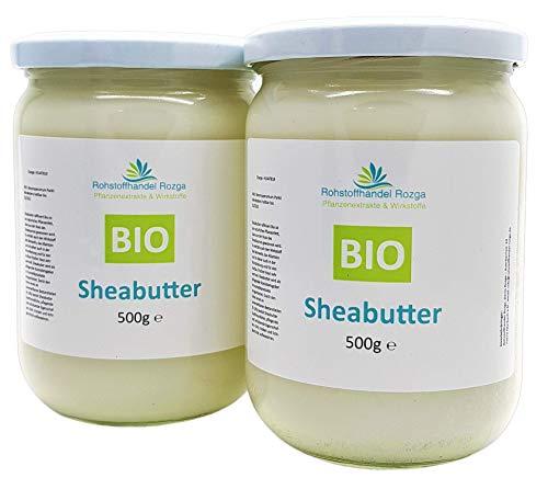(14,80/kg) Sheabutter BIO 1 kg (2x 500 g Glas!) Shea Butter 100{3439a80e3b0fadff347995cd582d7cb19a71cf7a6150966c6739ab2077b8f377} rein Top Qualität Karitebutter parfümfrei & vegan