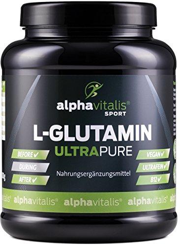 L-Glutamin Pulver ULTRAPURE - 99,95{a35de00114e9fba5ab9af97a5d52d82acb6e3c42829c8bbfa49b42e4ece5275b} rein - 1000g - neutral - vegan - glutenfrei - laktosefrei - feinstes L-Glutamin Pulver aus Deutscher Herstellung EINWEG