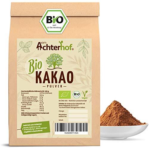 Kakao Pulver Bio (500g) Kakaopulver Rohkost stark entölt (11{70ca4ac15efec28991abf730c96568cac132cf1ed6c0e368ae0052990fd3d62d} Fett) zuckerfrei
