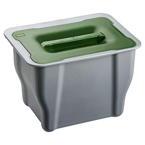 1PLUS Bio Mülleimer Abfalleimer mit Deckel 5l, auch zum Einhängen