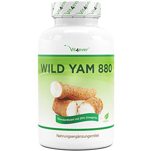 Vit4ever® Wild Yam Wurzel Extrakt - 180 Kapseln - 20{a59d9bfc78675f62910c1c765f9ff55554876c3b7e51f737b56d9924d6b47368} Diosgenin - 880 mg pro Tagesportion - Laborgeprüft - 100{a59d9bfc78675f62910c1c765f9ff55554876c3b7e51f737b56d9924d6b47368} Mexican Wild Yam - 3 Monatsvorrat - Hochdosiert - Vegan