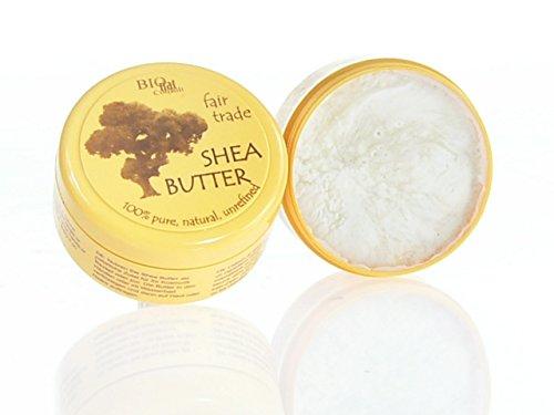 fair shea - Shea Butter unraffiniert 100{42b38132b701fa1f096b3695dd4091ef6a5b5be0bf6112bca459a66480e91067} pur fair gehandelt (150g Dose)
