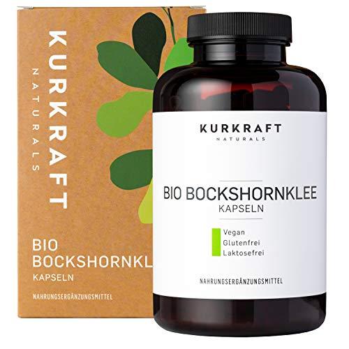 Kurkraft® Bockshornklee Aktiviert - Bio-Zertifiziert & Laborgeprüft - Vegan - 2400mg (600mg je Kapsel) - 180 Kapseln - ohne Zusatzstoffe - Sorgfältig hergestellt in Deutschland